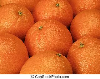 Oranges - large group of oranges on display