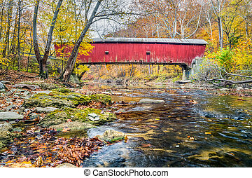 Rolling Stone Covered Bridge - Built in 1915, the Rolling...