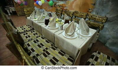 Table Setting on Children's Birthday - overview of the...