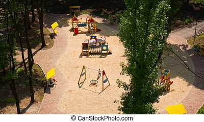 Childrens Playground From Above - childrens playground from...
