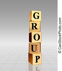 golden group with reflection