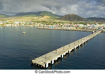 saint kitts and Nevis - Zante pier at Saint kitts...
