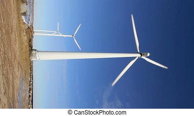 Wind turbine in portrait mode
