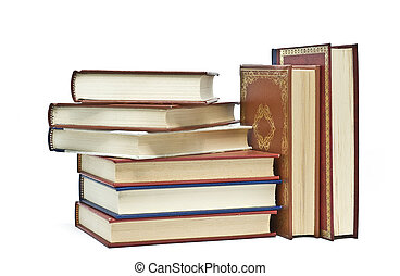 Books 25 - Some books isolated on a white background.