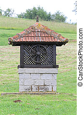 Water Well - Very Old Water Well With Manual Pump