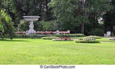 picturesque landscape park - beautiful landscape with a vase...