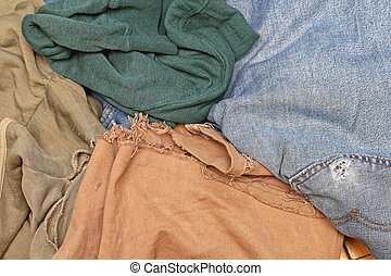 Worn Out Clothes - Bunch of Old Worn Out Clothes