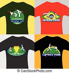 vector capoeira prints - bright prints for teenage with...