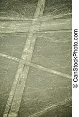 Nazca lines on desert in Peru, South America - Mysterious...