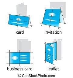 Printing shop services blue icons set. Part 2