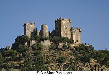 Almodovar, del, Rio, castelo, Espanha,