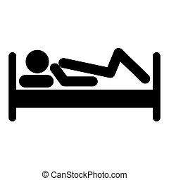 スティック, ベッド, 人