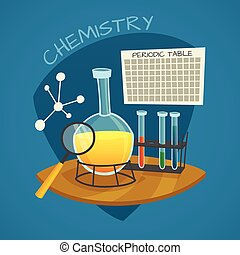 Chemical Laboratory Cartoon Icons Set - Chemical laboratory...