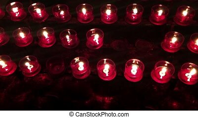 Candle Light in Church Wish Candles Religion Concept