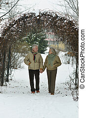 senior couple  at winter park