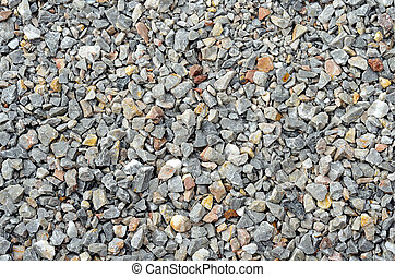 Gray gravel stone for background texture
