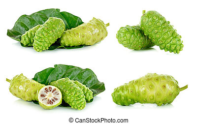 Exotic Fruit - Noni isolated on the white background