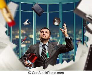 Businessman with stationery