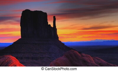 Slow panorama of Monument Valley