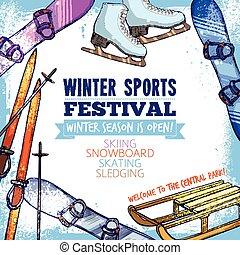 Winter Sport Poster - Winter sport festival promo poster...