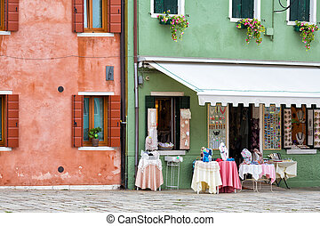 Showcase souvenir shop on Burano, Venice