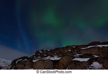 Unusual natural phenomena in the night sky - aurora