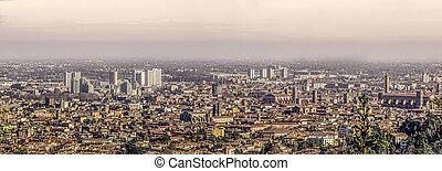 city of bologna aerial view