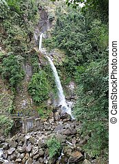 Seven Sisters waterfall, Sikkim, India - Indian toruists are...