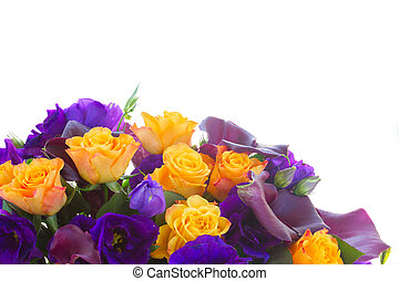 Calla lilly and eustoma flowers - Bunch of fresh calla...