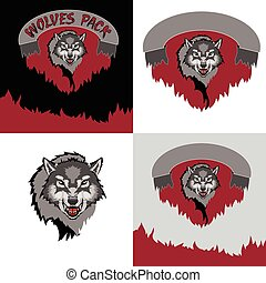 Wolf - Grey Wolf. Bad Wolf. The emblem of the wolf.