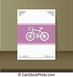 retro bicycle vintage card design
