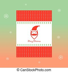 merry christmas vintage card design