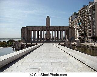Monumento a la Bandera in Rosario, Argentina - back view -...