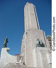 Front of Monumento a la Bandera in Rosario, Argentina -...