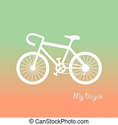 retro bicycle vector cartoon