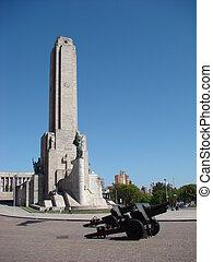 Monumento a la Bandera in Rosario, Argentina - front view -...