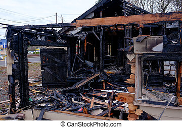 House Burned in Major Fire - House burned almost completely...