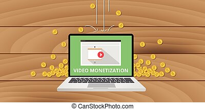 video marketing monetization gold money coin concept