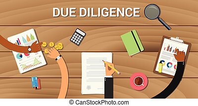 due diligence business graph data analysis vector graphic