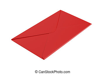 Red envelope on white