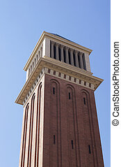 Venetian tower at Espanya square in Barcelona