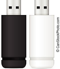 USB flash drive set on a white background.