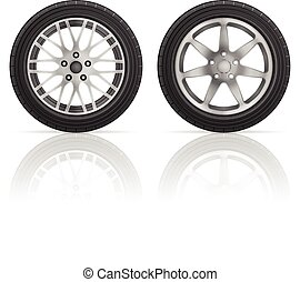 Car wheel tire set
