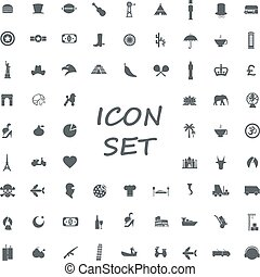 popular set of monotone flat icons in vector format