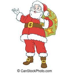 happy new year cartoon Santa Claus