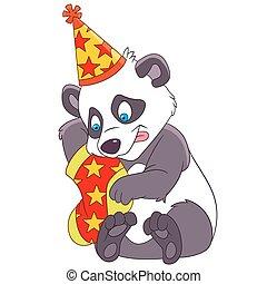 christmas cartoon panda - cute christmas cartoon panda...