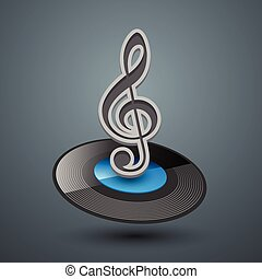 Treble clef icon.