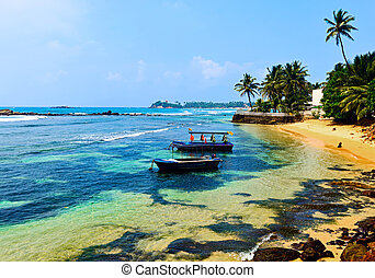 Beaches in Sri Lanka - Ocean coast of Sri Lanka in the...