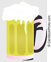the big stein - the large glass with beer overflowing out