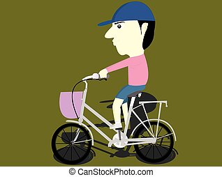 the child riding a bike